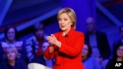 前美国国务卿希拉里·克林顿。