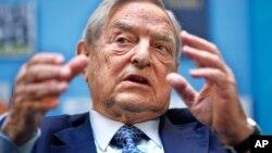 乔治·索罗斯在华盛顿举行的一个有关欧元的论坛上发言(2011年9月24日)