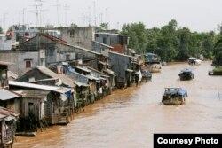 Khu vực châu thổ Mekong ở Việt Nam. (Ảnh: Asia Foundation)