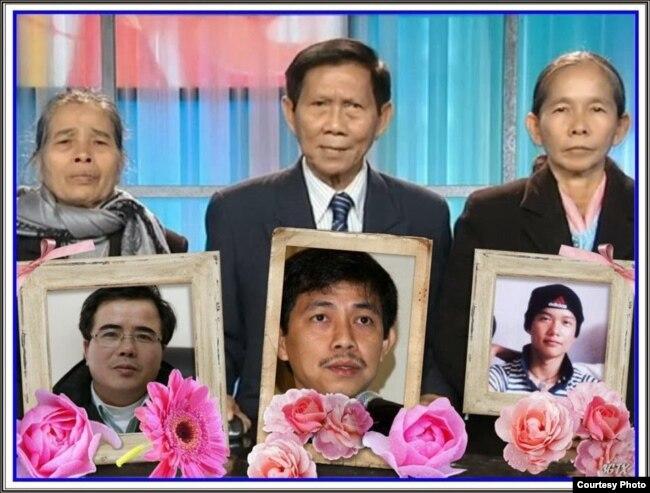 Ông Trần Văn Huỳnh và hai bà mẹ Việt Nam điều trần trước Quốc hội Hoa Kỳ về nhân quyền Việt Nam. (Ảnh: http://huynhngocchenh.blogspot.com)