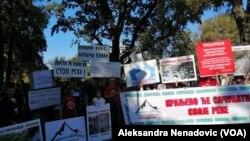Kraljevčani su bili na protestu u Beogradu koji je održan 21. septembra u organizaciji pokreta Odbranimo reke Stare planine, Foto: VOA