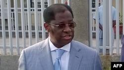Le ministre congolais de la Justice, Alexis Thambwe à Kinshasa, 20 mars 2016.