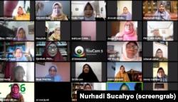 Seri diskusi daring Kesetaraan dan Keadilan Hukum Bagi Perempuan dan Anak oleh PP Aisyiah, Kamis 21 Mei 2020. (Foto: Screengrab/Nurhadi Sucahyo)