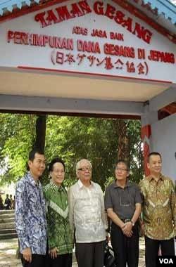 Komunitas musik keroncong Indonesia dan Jepang berkumpul di Taman Gesang, Solo.