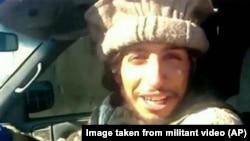 تصیوری از عبدالحمید اباعود عضو ۲۷ ساله بلژیکی گروه افراطی داعش که در یک وبسایت هوادار آن گروه منتشر شده است