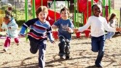 Children play at a playground in Washington.
