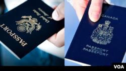 AQSh va Kanada pasportlari