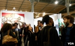 African contemporary art and design is being showcased in the French capital, Paris, Nov. 10, 2017. (L. Bryant/VOA)