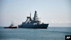 Tàu HMS Defender của Anh đến cảng Batumi của Georgia hôm 26/6/2021.