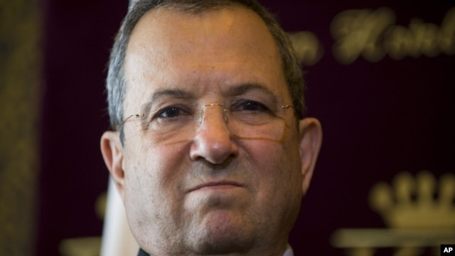 Israeli Defense Minister Ehud Barak, September 8, 2012.