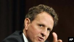 ທ່ານ Timothy Geithner ລັດຖະມົນຕີການເງີນສະຫະລັດ.