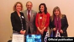Ο Ακόλουθος Τύπου, Χρήστος Φαϊλάδης, και τα στελέχη του Γραφείου Τύπου της ελληνικής Πρεσβείας στην Ουάσινγκτον