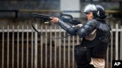 La Policía Nacional Bolivariana intervino para dispersar a los manifestantes en el estado de Táchira.