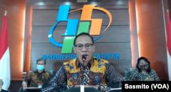 Kepala Badan Pusat Statistik (BPS) Suhariyanto saat menggelar konferensi pers secara online, Kamis (5/11/2020). (Foto: Sasmito)