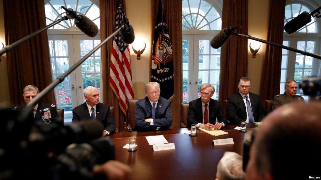 美国总统川普在白宫听取美军高级将领简报(资料照 )