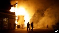 Một cơ sở bị đốt sau loan báo của Đại hội thẩm đoàn không khởi tố cảnh sát viên Darren Wilson, 24/11/14