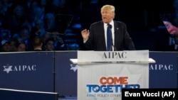 Donald Trump AIPAC konuşmasında