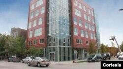 Situada en el barrio Pilsen de Chicago, la residencia de seis pisos proporcionará a los estudiantes locales los beneficios de la vivienda en el campus, incluyendo asesores para el apoyo académico. [Foto: Gobernación de Illinois]