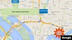 Mapa de la ciudad de Washington