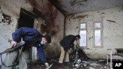 حملات انتحاری بر بزرگترین ماموریت پولیس در پشاور