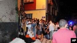土耳其婚禮炸彈攻擊後現場