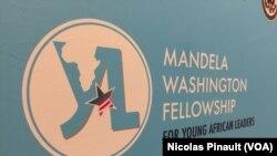 Logo du YALI 2017 - Young African Leaders Initiative, Washington, le 1er août 2017 (VOA/Nicolas Pinault)