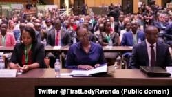 Bamwe mu bitabiriye inama Mpuzamahanga Kuri Jenoside Yakorewe Abatutsi