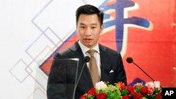 美国副助理国务卿黄之瀚在台北对美国商会发表讲话(2018年3月21日)