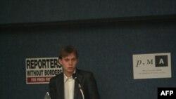 Илья Барабанов в Пресс-клубе Вашингтона 22 октября 2010г.