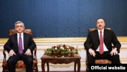 Azərbaycan prezidenti İlham Əliyev və Ermənistan prezidenti Serj Sarkisyan arasında görüş, Vyana, 2013-cü il