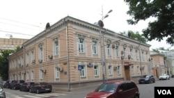 二战前斯大林时代的苏联对外情报局总部办公楼(美国之音白桦拍摄)