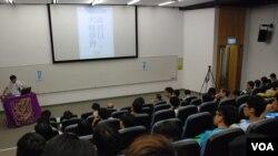 香港7間大學同時舉行和平佔中大專學界商討日,有724名大專學生參與