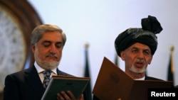 رئیس جمهور اشرف غنی و رئیس اجرائیه عبدالله (ارشیف)
