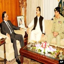 صدر زرداری، وزیراعظم گیلانی اور جنرل کیانی کی ملاقات