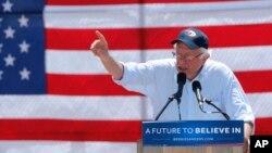 Bernie Sanders insiste con seguir en la contienda y se encuentra en campaña en California, donde se celebrarán las próximas elecciones primarias.