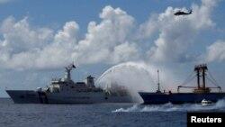 台湾海巡署在2016年11月29日举行海上救援演习。