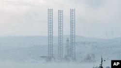 远东地区萨哈林岛附近科尔斯克耶钻井平台