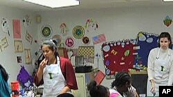 Kids Cafe is a community center that teaches children from low income homes and are at risk of going hungry how to prepare healthy meals -- for themselves and their families