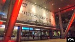 Si ganan los comicios, Mitt Romney y Paul Ryan tienen previsto celebrarlo en el Centro de Convenciones de Boston. [Foto: Alberto Pimienta, Voz de América].