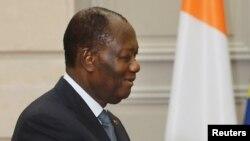 Le président ivoirien Alassane Ouattara, 11 juin 2017.