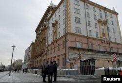 美国驻莫斯科大使馆外观(2016年12月30日)