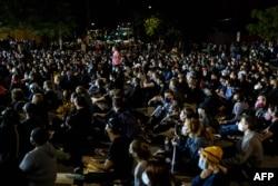 7일 미국 뉴욕주 로체스터에서 경찰 체포 과정 중 대니얼 프루드 씨가 숨진 사건에 항의하는 시위가 계속됐다.