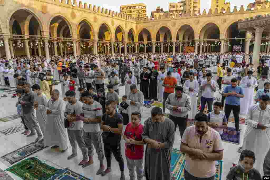 About 90 percent of Egyptians are Muslim, and this week they celebrate Eid al-Adha, a holiday in which livestock are slaughtered and some of the meat is distributed to the poor, Cairo, July 20, 2021.