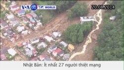 Lở đất ở Nhật Bản, 27 người thiệt mạng (VOA60)