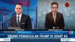 Laporan VOA untuk Metro TV: Sidang Pemakzulan Trump di Senat AS