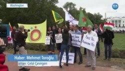 Kürtler Beyaz Saray Önünde Eylem Yaptı