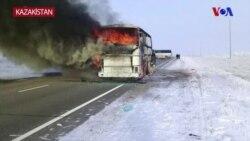 Kazakistan'daki Otobüs Kazasında 52 Kişi Öldü
