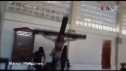 Phiến quân Hồi giáo đập phá nhà thờ tại Philippines