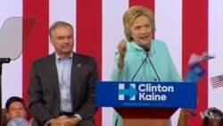 Clinton, Kaine Promote Message of Optimism in Florida