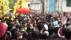 """香港网民再发""""光复""""示威 反击水货客"""